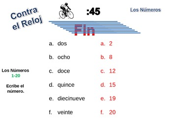 Spanish Numbers 1-100 Writing Activity, Powerpoint