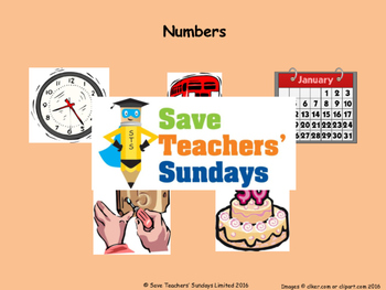 Spanish Numbers 1-12 Lesson plan, PowerPoint (with audio), Cards & Worksheet