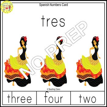 Spanish Numbers Clip Task Cards