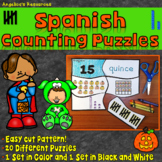 Spanish Halloween Puzzles: Spanish Numbers 1-20 - Counting in Spanish