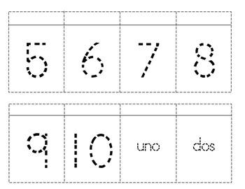 Spanish Numbers 1-20 Interactive Notebook Flipbook