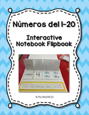 Spanish Numbers 1-20 Interactive Notebook Flipbook