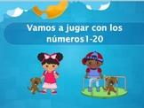 Spanish Numbers 1-20 Powerpoint Activities (Elementary, FL