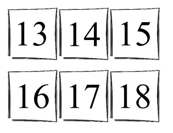Spanish Numbers (1-30) - Numeric and Word Form