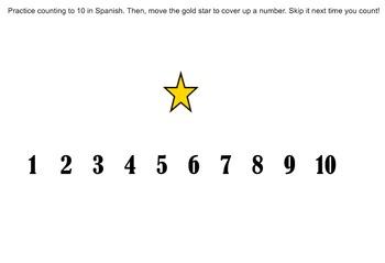 Spanish Numbers 1-30 SmartBoard Practice