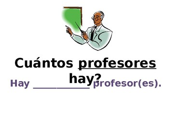 "Spanish- Numbers 1-31 Class Practice (Reinforces Expression ""Hay"")"