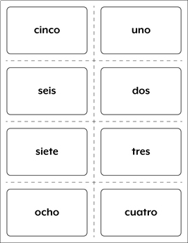 Spanish Numbers 1-31 Vocabulary Games