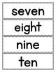 Spanish Numbers 1 to 10: Word Wall in English - FREEBIE
