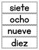 Spanish Numbers 1 to 10: Word Wall in Spanish - FREEBIE