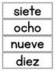 Spanish Numbers 1 to 10: Word Wall in Spanish - FREEBIE