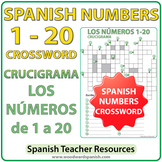 Spanish Numbers 1 to 20 Crossword - Crucigrama