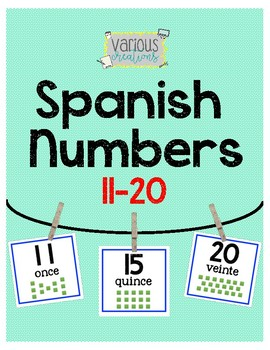 Spanish Numbers 11-20