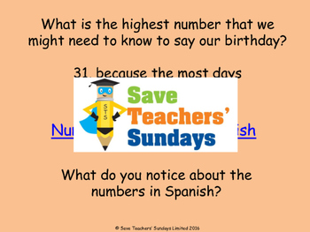 Spanish Numbers 13-31 Lesson plan, PowerPoint (with audio), Flashcards & Games