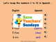 Spanish Numbers 13-31 Lesson plan, PowerPoint (with audio)