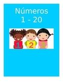 Spanish Numbers Flashcards 1 - 20