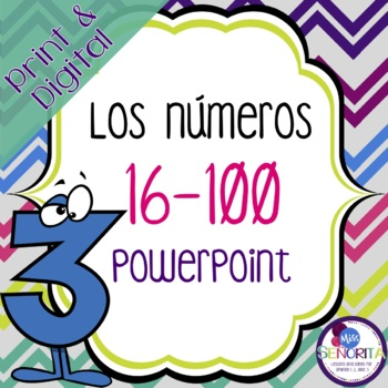 Spanish Numbers 16-100 Powerpoint