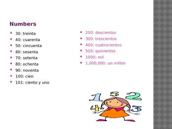 Spanish Numbers