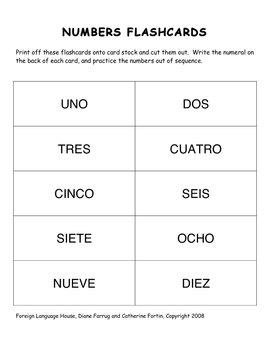 Spanish Numbers & Activities: 0-20