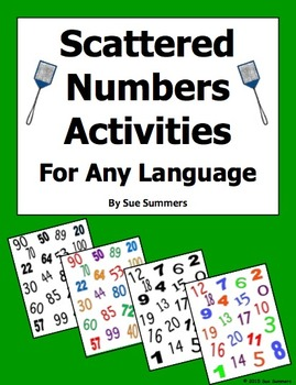 Spanish Numbers Or Any Language Numbers Activities - Scattered Numbers
