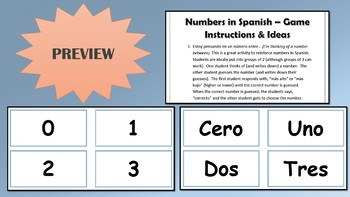 Spanish Numbers Activities and Practice