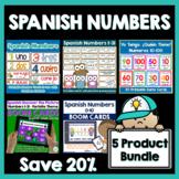 Spanish Numbers Activity Bundle | Flashcards, Game, Boom C