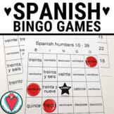 Spanish Numbers Los Números BINGO - Numbers 1 - 39