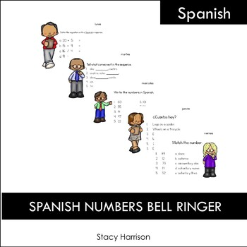 Spanish Numbers Bell Ringers, Do Nows, Warm Ups (Monday-Friday)