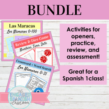 Spanish Numbers Bundle Los Números