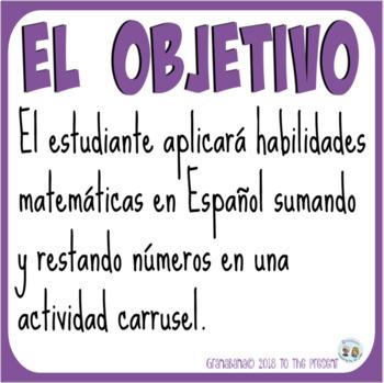 Spanish Numbers Carousel De Marcha con los Números 0 al 100: Un Carrusel