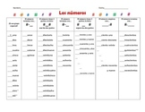 Spanish Numbers Chart 1-1,000