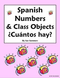 Spanish Numbers & Classroom Objects - ¿Cuántos hay?