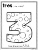 Spanish Numbers Coloring Booklet (1-10) (Los Numeros)