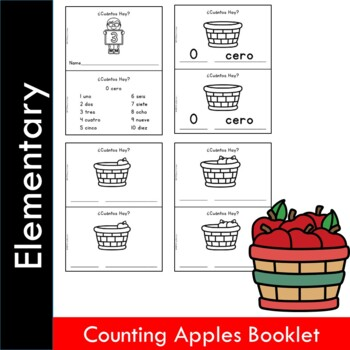 Spanish Numbers Counting Apples Booklet