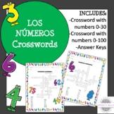 Spanish Numbers Crosswords