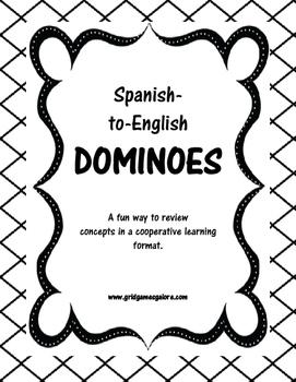 Spanish Numbers Dominoes