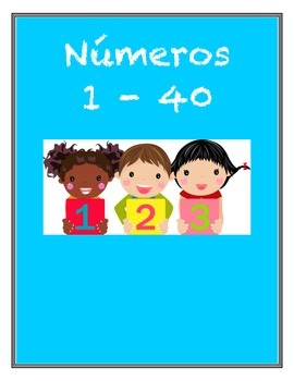 Spanish Numbers Flashcards 1 - 40