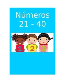 Spanish Numbers Flashcards 21 - 40