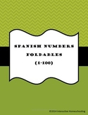 Spanish Numbers Foldables 1-100