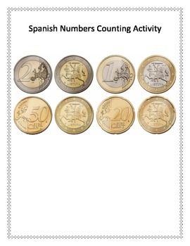 Spanish Numbers Handouts and Counting Practice Activity