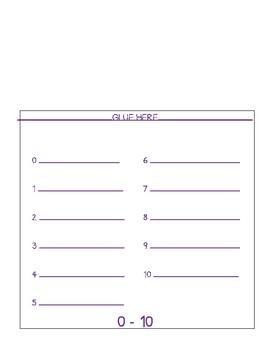 Spanish Numbers Interactive Notebook Flipbook