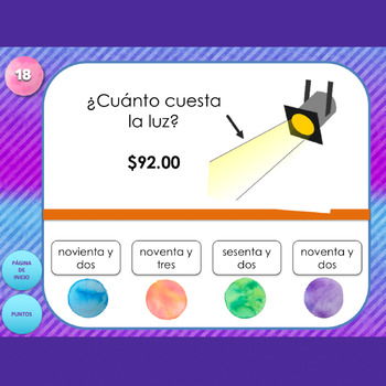 Spanish Numbers Interactive PowerPoint Game