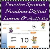 Spanish Numbers Lesson & Practice - Digital Activity- With