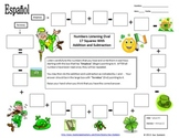 Spanish Numbers Listening and Math Activity - St. Patrick's Day Theme