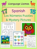Spanish Numbers Los Numeros Puzzles and Mystery Pictures