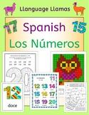 Spanish Numbers Los Numeros - activities, puzzles, bingo,