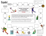 Spanish Numbers and Math Listening Activity - Soccer Theme