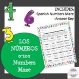 Spanish Numbers Maze
