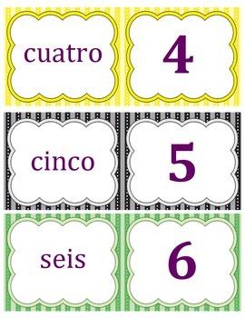 Spanish Numbers Memory Game