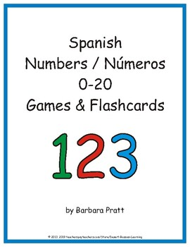 Spanish Numbers (Números) 0-20 Word Strips, Cards, and Posters eBook