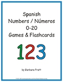 Spanish Numbers (Números) 0-20 Word Strips, Cards, and Pos